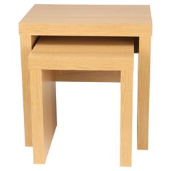 Torino Nest of 2 Side Tables, Oak-effect