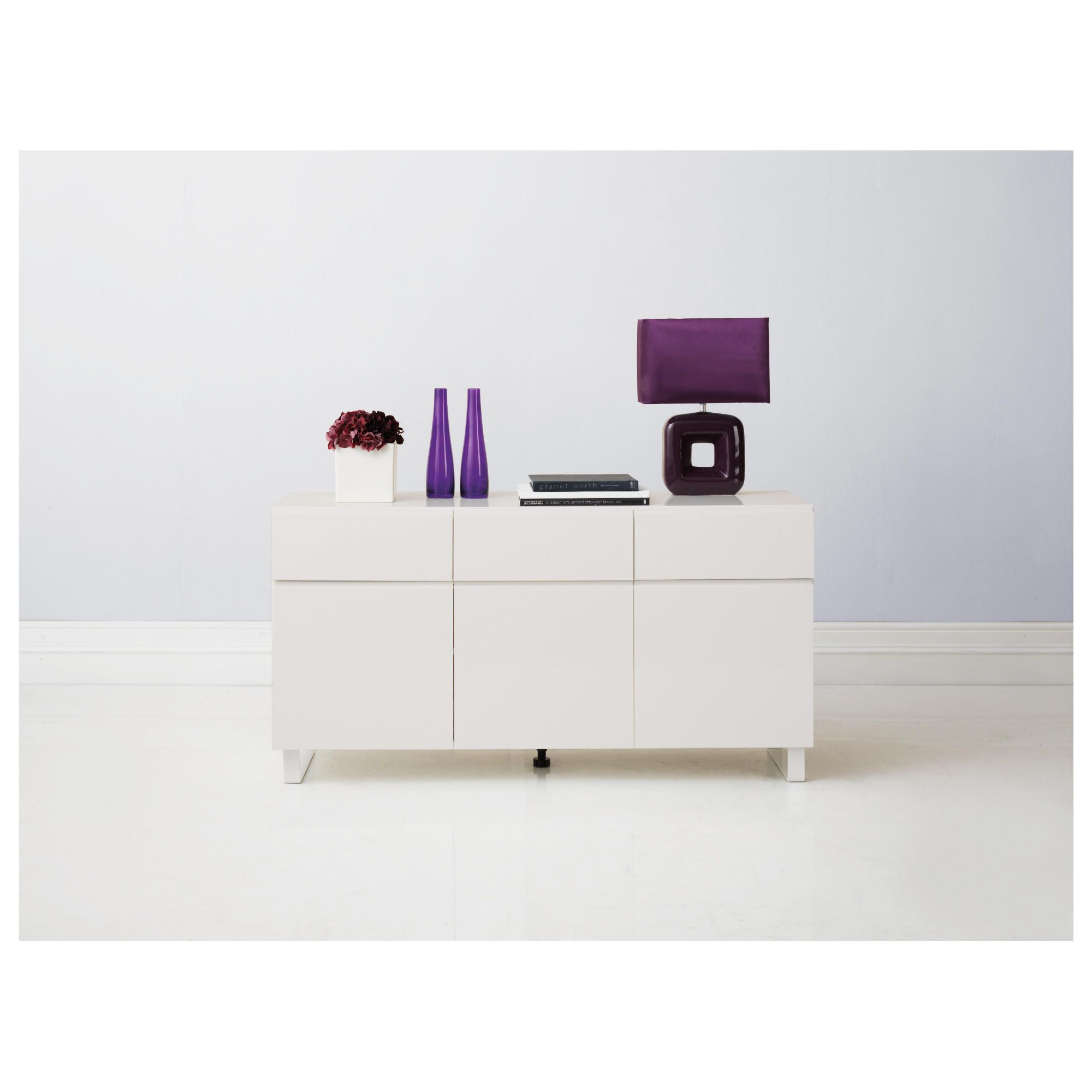 Urban 3 Drawer 3 Door Sideboard White at Tesco Direct