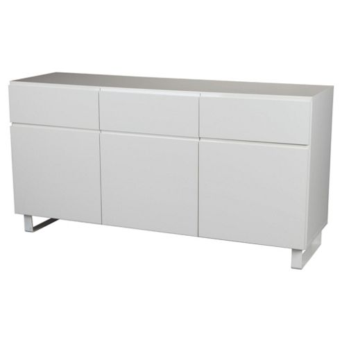 Urban 3 Drawer 3 Door Sideboard White