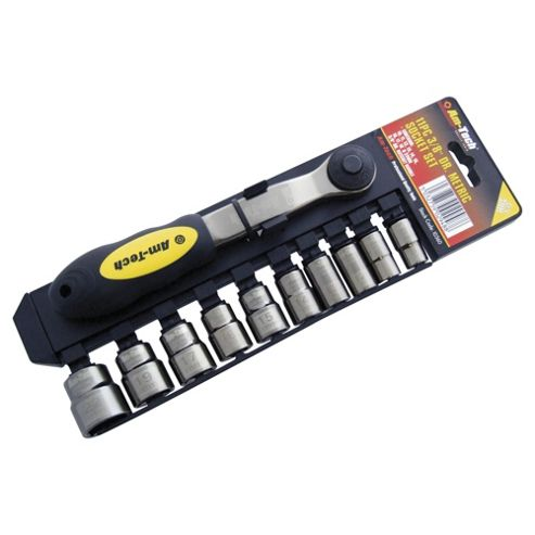 Am-tech 11pc 3/8 Drive Black Nickel Socket Set