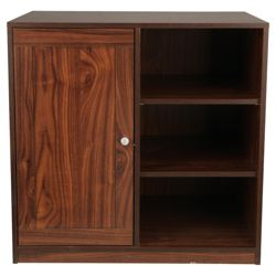 Fraser Modular 1 Door Cupboard With Shelving, Walnut Effect