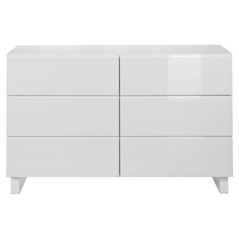 Urban 6 Drawer Chest, White