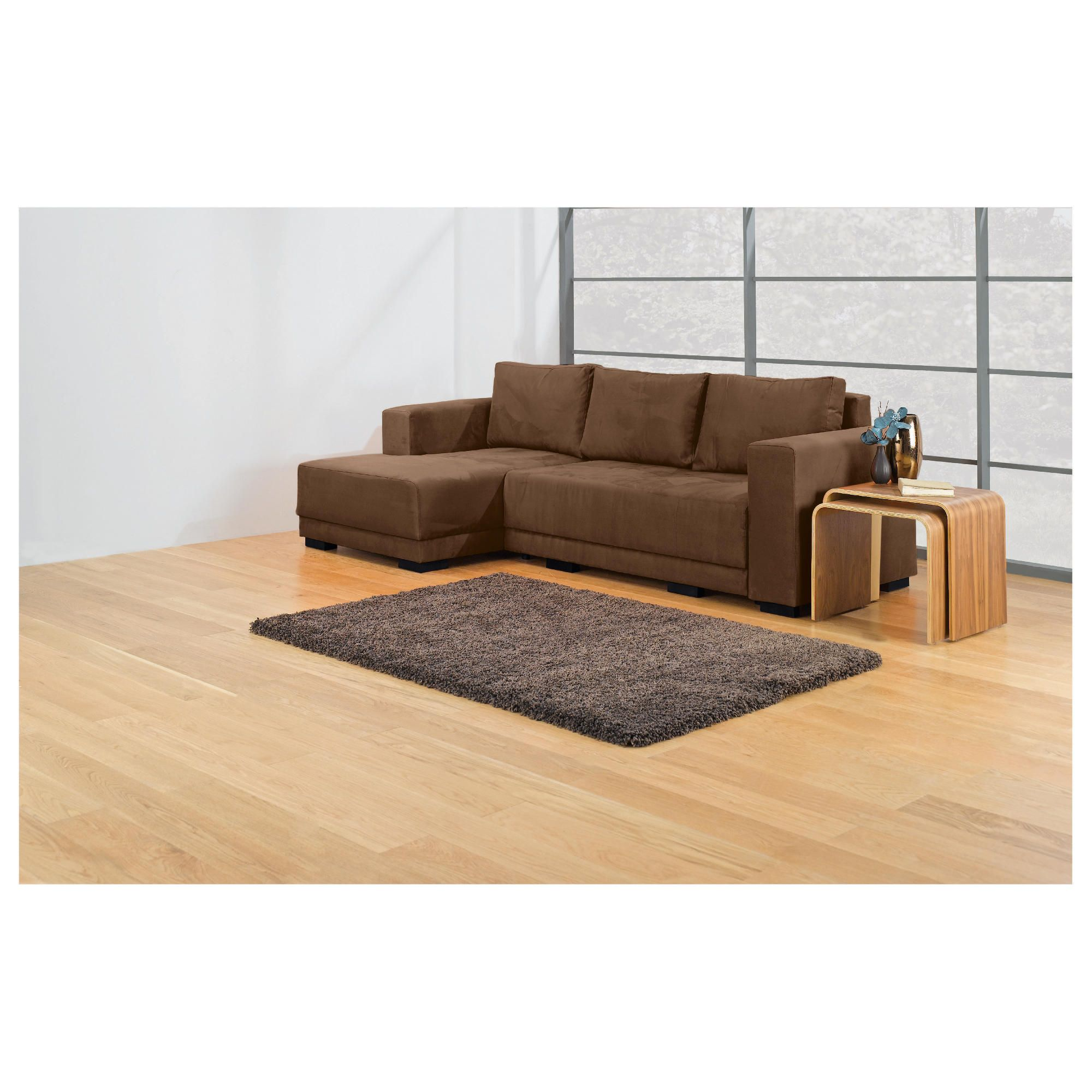 Grant Chaise Sofa Bed Left Hand Facing, Light Brown at Tesco Direct