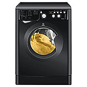 Indesit IWD7145K Washing Machine, 7kg Wash Load, 1400 RPM, A Energy Rating. Black