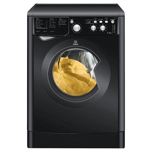 Indesit IWD7145K Washing Machine, 7kg Wash Load, 1400 RPM, A Energy Rating. Black