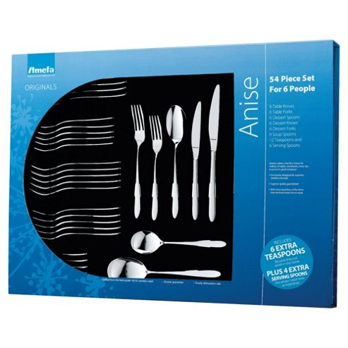 Amefa Anise Originals 54 Piece, 6 Person Boxed Cutlery Set