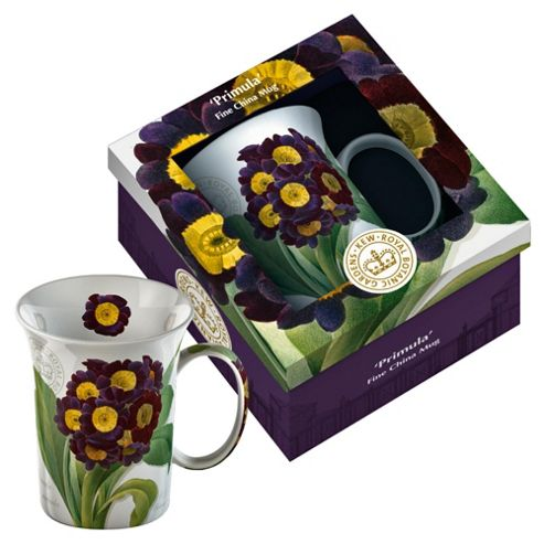 Kew Gardens Gift Boxed Primula Fine Bone China Mugs