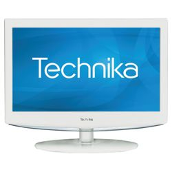 Technika 19-228 18.5 inch Widescreen HD Ready LCD TV DVD Combi & USB Player with Freeview .White