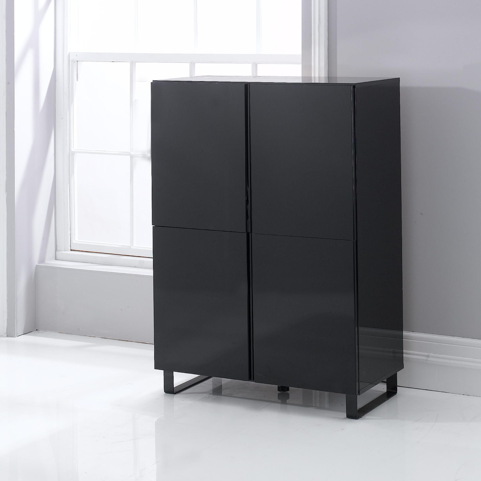 Urban 4 Door Storage Black at Tesco Direct