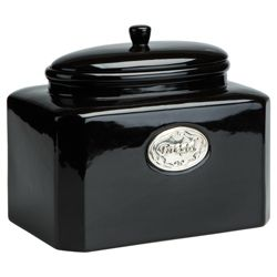 buy tesco country kitchen bread canister black from our