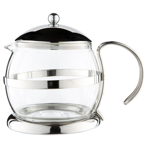 Tesco Stainless Steel and Glass Teapot