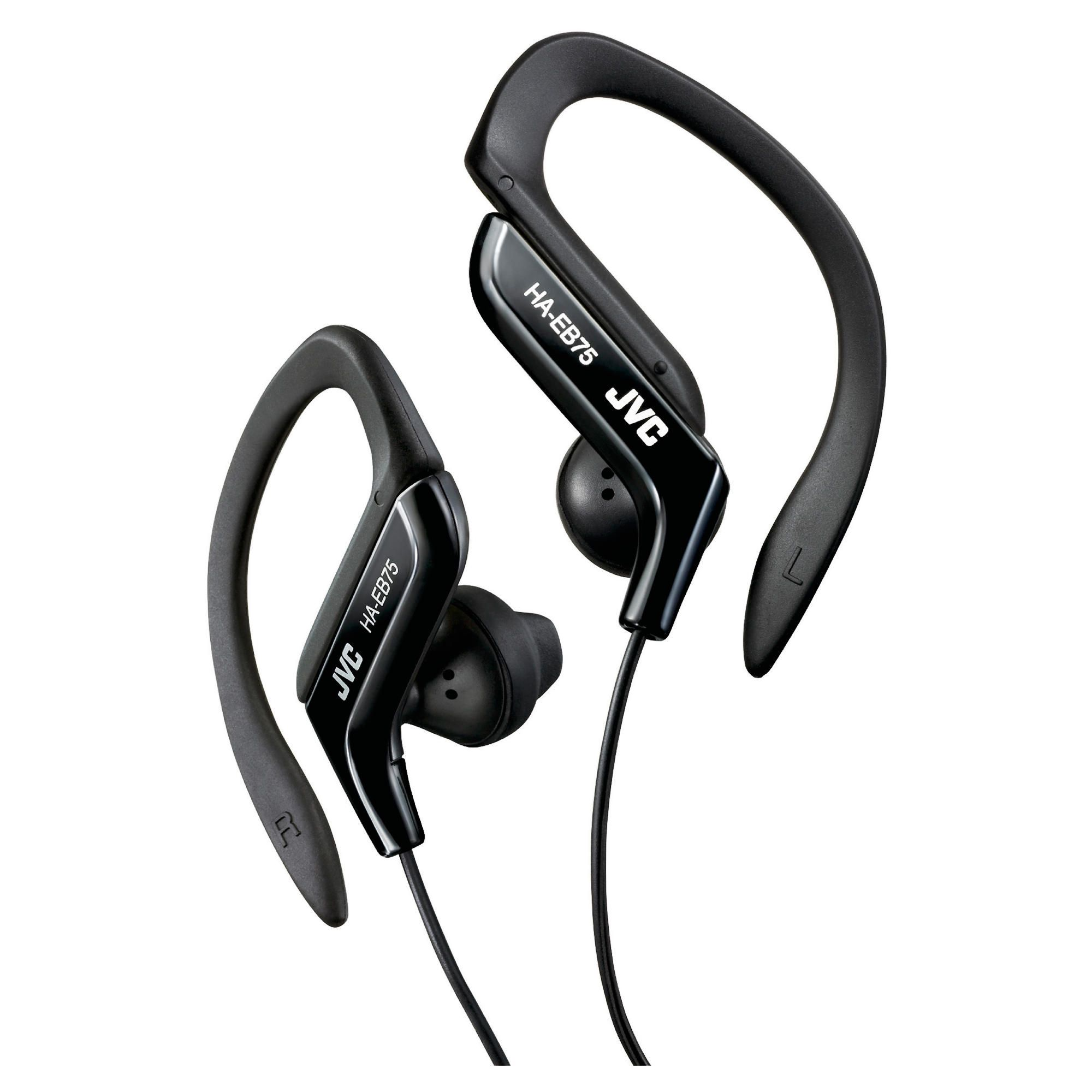 JVC HAEB75B Sports Ear Clip Eeadphones with Adjustable Clip - Black