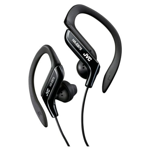 JVC HAEB75B Sports Ear Clip Eeadphones with Adjustable Clip - Black