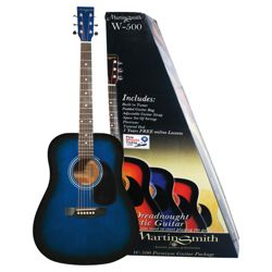 Martin Smith Acoustic Guitar Pack - Blue