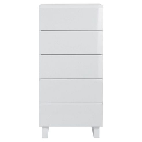 Urban 5 Drawer Chest, White