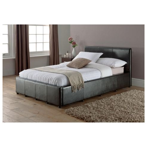 Buy Eden Small Double Faux Leather Ottoman Bed Frame