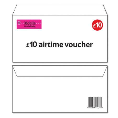 T-Mobile £10 Top-up voucher