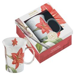 Kew Gardens Gift Boxed Amaryllis Fine Bone China Mugs