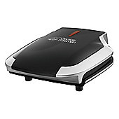 George Foreman Compact Silver/Black Grill