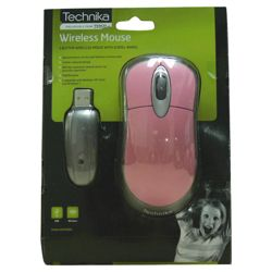 Technika WM110PK 2.7 GHz Wireless Optical Mouse Pink-Silver