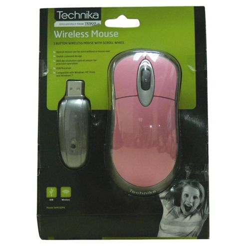 Technika Wireless Mouse Pink/Silver