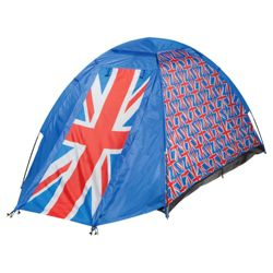 Tesco 2-Man Dome Tent, Union Flag