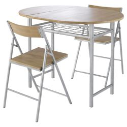 Mia 2 Seat Butterfly Set with 2 Folding Chairs, Oak Effect