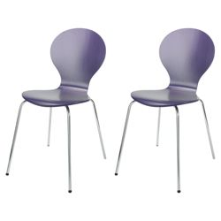 Bistro Pair of Stacking Chairs, Purple - Purple  Variety of colorful chairs for modern dining rooms 209 6354 PI TPS1441248 wid 250 hei 250  Detail