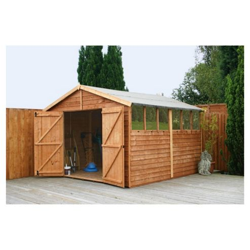 Mercia Apex Overlap Large Wooden Shed with installation, 10x10ft