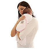 Cuddlewrap, White with Pink Detail