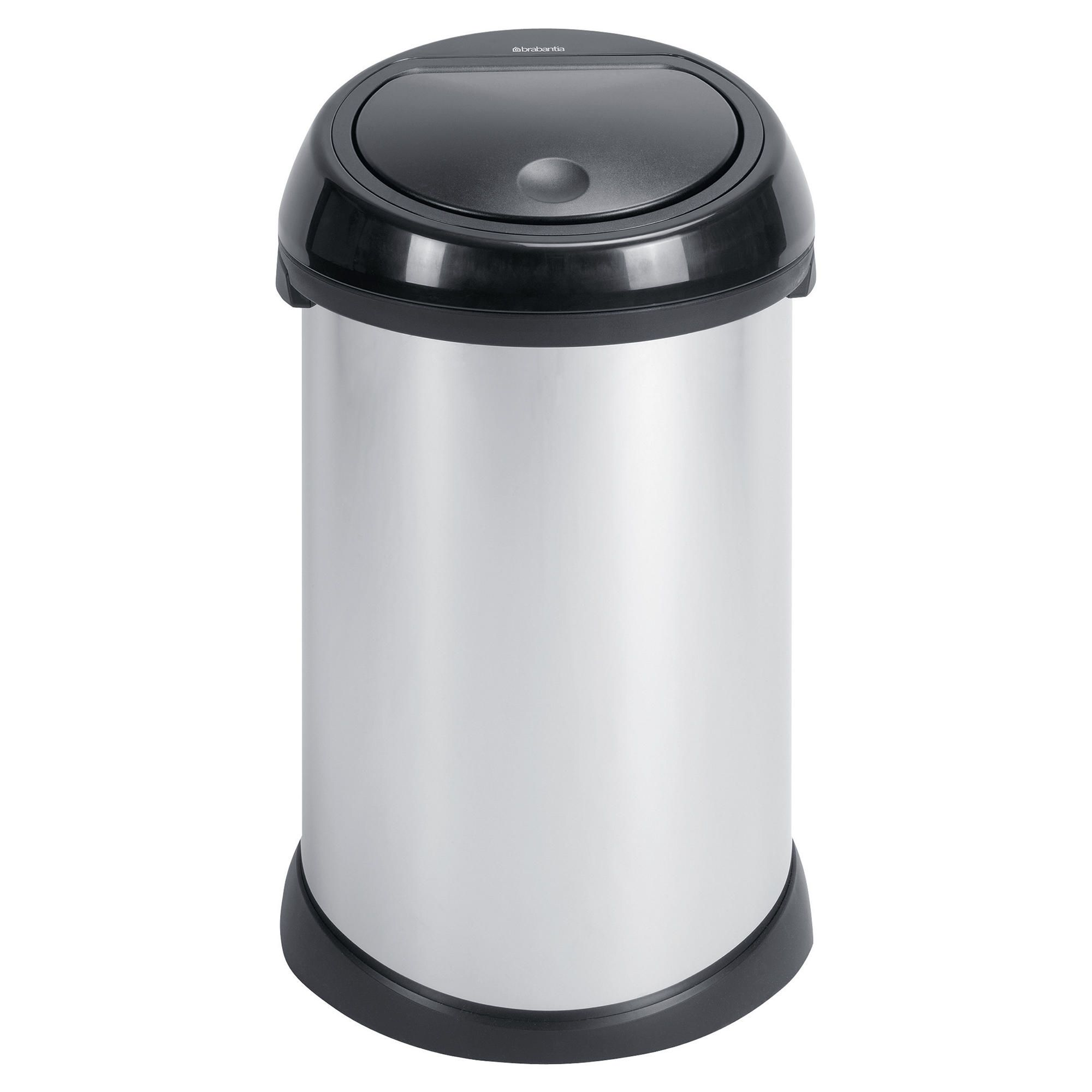 home and garden brabantia 50l brilliant steel touch bin with plastic lid special offers. Black Bedroom Furniture Sets. Home Design Ideas