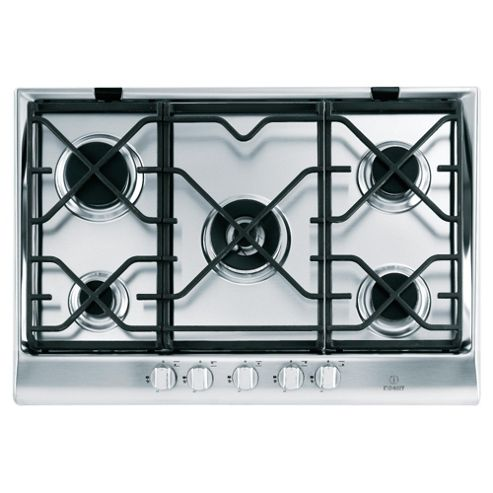 Indesit Prime IP751SCIX, Stainless Steel, Cast Iron Gas Hob, 75cm