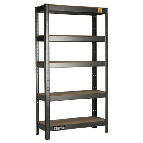 Clarke CSR5150B Boltless Shelving Unit 150Kg, Black