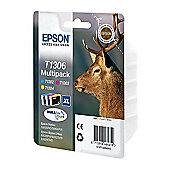 Epson T1306 Printer Ink Cartridge - Tri-colour Multipack (Contains T1302, T1303, T1304 cartridges)