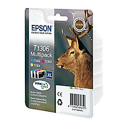 Epson Multipack 3-colours T1306 DURABrite Ultra Ink