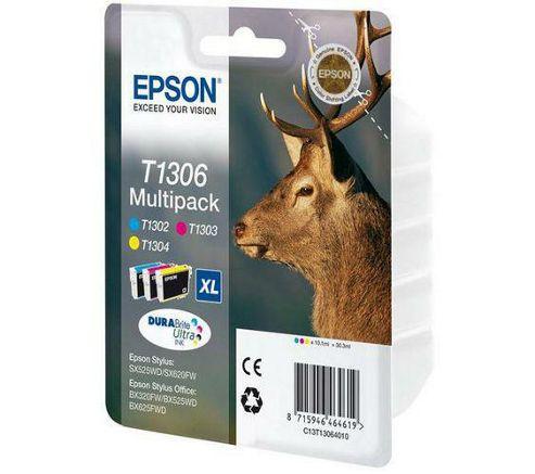 Epson T1306 Printer Ink Cartridge - Tri-colour Multipack