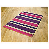 Tesco Rugs Stripe Rug Plum 150x240cm