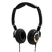 Skullcandy Lowrider Headphones Black Gold with Mic 2010