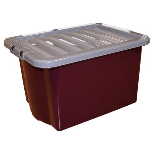 Whatmore 24L box, purple with grey lid