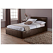 Eden Small Double Faux Leather Ottoman Bed Frame, Brown