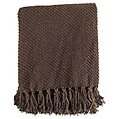 TEXTURED CHENILLE THROW TRUFFLE