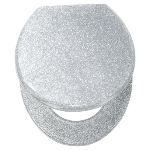 Buy Tesco Glitter Toilet Seat Silver From Our Toilet Seats
