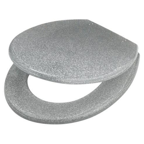 Tesco Glitter Toilet Seat Silver