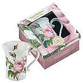 Kew Gardens Gift Boxed Rosa Centifloria Fine Bone China Mugs