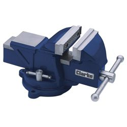 Clarke CVR100B 100mm blue vice with swivel base