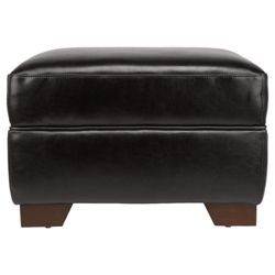 Croft Footstool Dark Brown