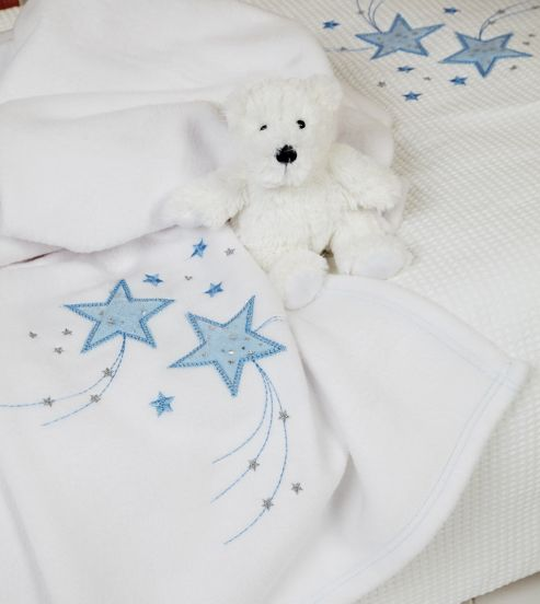 Clair de lune Stardust Blanket, Cream