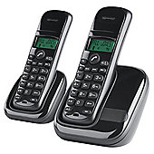 Tesco Value AWB001 Twin Cordless Phone - Black
