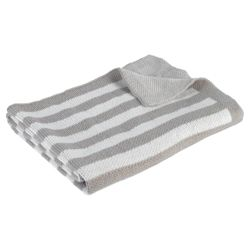 Kids Line Stripe Knit Blanket