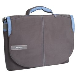 Techair Laptop messenger bag Grey & Blue Z0510 - For up to 11.6 inch laptops/ netbooks